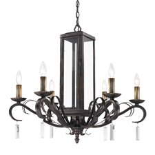 Valencia 6 Light Crystal Chandelier