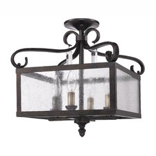 Valencia 4 Light Semi Flush Mount