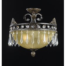 Le Grandeur 3 Light Convertible Semi Flush Mount