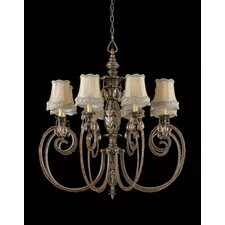<strong>Triarch Lighting</strong> Mardis Gras 8 Light Chandelier