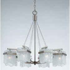 Arctic Ice 8 Light Chandelier