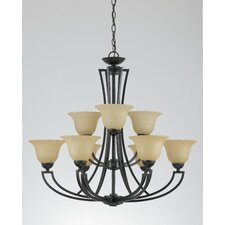 <strong>Triarch Lighting</strong> Greco 9 Light Chandelier