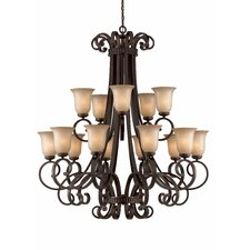 <strong>Triarch Lighting</strong> Corsica 15 Light Chandelier