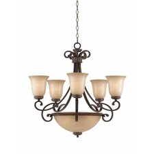 <strong>Triarch Lighting</strong> Corsica 8 Light Chandelier