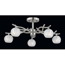 Cosmo 5 Light Semi Flush Mount