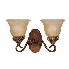 <strong>Triarch Lighting</strong> Crown Jewel 2 Light Wall Sconce
