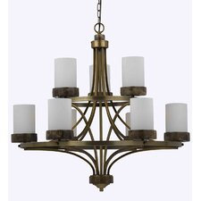 <strong>Triarch Lighting</strong> Travertino 9 Light Chandelier