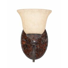 Jewelry 1 Light Wall Sconce with Glass Shape