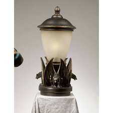 "Gargoyle 1 Light 22"" Outdoor Post Lantern Set"