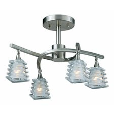 Milan 4 Light Semi Flush Mount