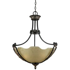 <strong>Triarch Lighting</strong> Corinthian 3 Light Inverted Pendant