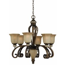 <strong>Triarch Lighting</strong> Ironstone 6 Light Chandelier