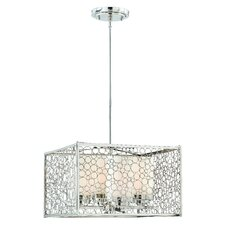 Contempo 4 Light Drum Foyer Pendant