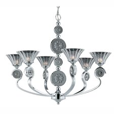 <strong>Triarch Lighting</strong> Medallion 6 Light Chandelier