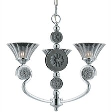 <strong>Triarch Lighting</strong> Medallion 3 Light Mini Chandelier