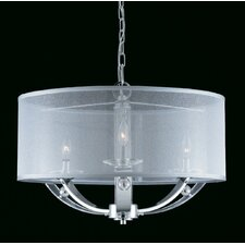 Aurora 4 Light Drum Foyer Pendant
