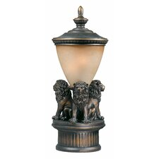 "Lion Exterior 1 Light 23"" Outdoor Post Lantern Set"
