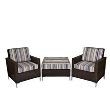Napa Springs 3 Piece Deep Seating Group with Cushions