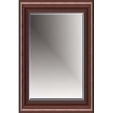Beveled Mirror with Polystyreen Frame in Cherry