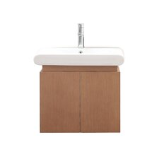 "Elle 24"" Wall Mounted Vanity Set with Single Sink"