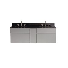 "Tribeca 61"" Double Wall Mounted Bathroom Vanity Set"