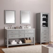 "Brooks 61"" Double Bathroom Vanity Set with Mirror"