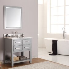 "Brooks 31"" Single Bathroom Vanity Set with Mirror"