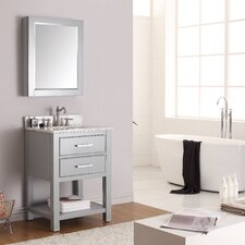 "Brooks 25"" Single Bathroom Vanity Set with Mirror"