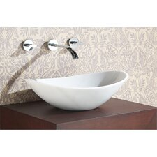 Oval Stone Vessel Bathroom Sink