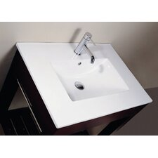 "25"" Vitreous China Vanity Top with Rectangular Bowl"