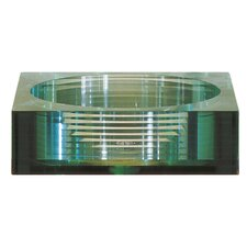 Square Tempered Segmented Glass Vessel Bathroom Sink