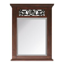 Napa Mirror in Dark Cherry