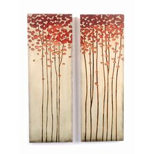 Crafted Tree Original Painting Plaque (Set of 2)