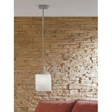 Kubik Large Single Light Pendant in Gray Metal