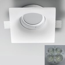 Invisibli 4 Light Recessed Square with Adjustable LED