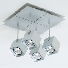Dau Spot Four Light Square Flush Mount