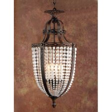 Longas Nine Light Traditional Pendant in Oxidate Bronze