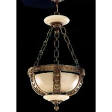 <strong>Zaneen Lighting</strong> Melilla Pendant in Rustic Bronze