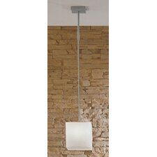 <strong>Zaneen Lighting</strong> Kubik Large Single Light Pendant in Gray Metal