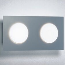 <strong>Zaneen Lighting</strong> Duo Two Light Wall or Ceiling Flush Mount