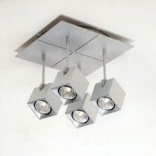 <strong>Zaneen Lighting</strong> Dau Spot Four Light Square Flush Mount