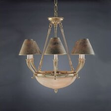 Palma Nine Light Traditional Chandelier in White French Gold