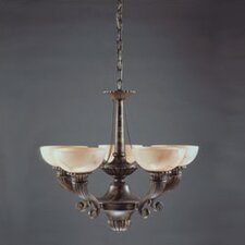 Cordoba Five Light Traditional Chandelier in Antique Brass