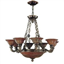 Avila Traditional Chandelier in Antique Brass