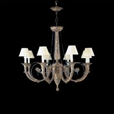 Menorca Eight Light Traditional Chandelier in Ancient Silver