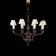 <strong>Zaneen Lighting</strong> Zamora Eight Light Traditional Chandelier in Aged Bronze