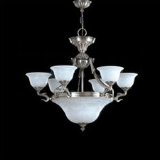 <strong>Zaneen Lighting</strong> Burgos I Traditional Chandelier in Silver Oxide