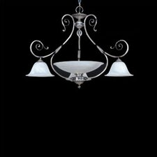 <strong>Zaneen Lighting</strong> Alava II Four Light Traditional Chandelier in Silver Oxide