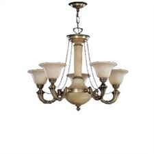 <strong>Zaneen Lighting</strong> Santos Five Light Traditional Chandelier in Dark English Bronze