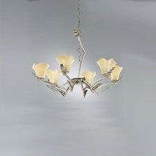Rovigo Six Light Chandelier in Weathered Silver